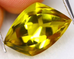 Honey Quartz 5.56Ct VVS Natural Designer Cut Yellow Honey Quartz B1936