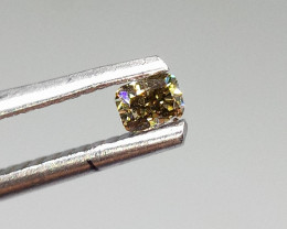 0.14ct Fancy Brown Green   Diamond , 100% Natural Untreated