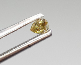0.13ct  Fancy Green Brown Diamond , 100% Natural Untreated