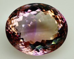 20.83  ct. Natural Top Nice Purple Ametrine Unheated Brazil - IGE Сertified