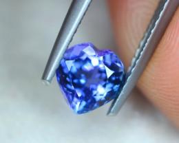 1.17ct Natural Violet Blue Tanzanite Heart Cut Lot GW7025