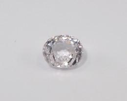 1.47ct unheated white sapphire