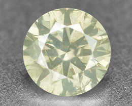 0.19 Cts Untreated Natural Fancy Yellowish Green  Color Loose Diamond