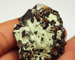 Amazing Natural color Damage free Garnet cluster with mine clay 295Cts-A