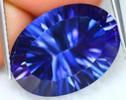 Blue Topaz 15.32Ct VVS Natural Millennium Cut Vivid Royal Blue Topaz C2717