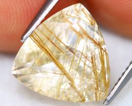 Golden Rutile 5.57Ct Natural Faceted Golden Needle Rutile Quartz C2722