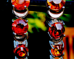 55.93SPHALERTE  EARRINGS- HAND MADE-BEST QUALITY STONES.