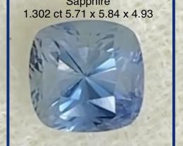 CERTIFIED Luminous Ceylon Blue Cushion Cut Sapphire  - Sri Lanka - G67