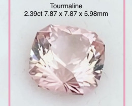 DO NOT  BID Precision Cut 2.39ct Congalese Pink Tourmaline - 2267