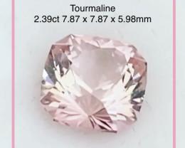 DO NOT  BID Precision Cut 2.39ct Congalese Pink Tourmaline - 2267