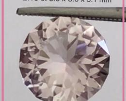 Pretty Soft Pink 2.15ct Precision Cut Tourmaline - Tanzania H722