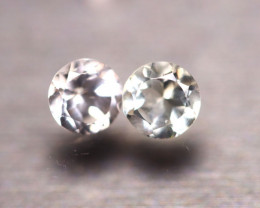 White Topaz 1.70Ct 2Pcs Natural White Topaz E0110/A41