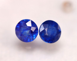 Ceylon Sapphire 4.12Ct 2Pcs Royal Blue Sapphire E0112/A23