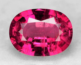 1.08 Cts  Un Heated Reddish Pink Color Natural Rubellite Loose Gemstone