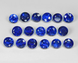 15.18 Cts 17Pcs Fancy Royal Blue Color Natural Kyanite Gemstone Parcel