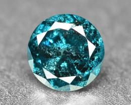 0.11 Cts Sparkling Rare Fancy Intense Blue Color Natural Loose Diamond