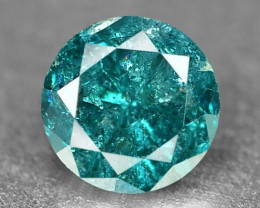 0.19  Cts Sparkling Rare Fancy Greenish Blue Color Natural Loose Diamond