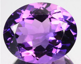 ~LOVELY~ 4.38 Cts Natural AAA Purple Amethyst 12x10mm Oval Bolivia