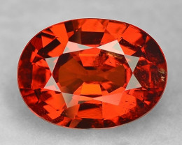 2.83 Cts Amazing Rare Fancy Orange Red Natural Spessartite Garnet Loose Gem
