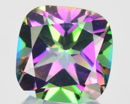 ~RAINBOW~ 2.86 Cts Natural Mystic Topaz 8mm Cushion Cut Brazil
