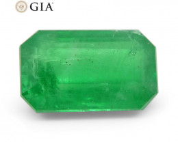 3.87 ct Octagonal/Emerald Cut Emerald GIA Certified