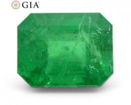 2.46 ct Octagonal/Emerald Cut Emerald GIA Certified