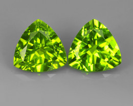 5.50 CTS~JEWEL SET! PERIDOT WORLD SERIES BEAUTIFUL 9.05MM TRILLION EXXCELLE