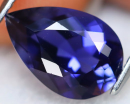 Iolite 2.60Ct VVS Natural Pear Cut Vivid Royal Kashmir Blue Iolite B2702