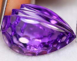 Amethyst 10.88Ct VVS Natural Designer Cut Bolivian Purple Amethyst B2705