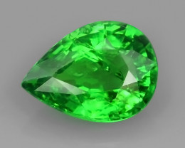 0.90 CTS~NATURAL EARTH MINED RARE HUGE TOP GREEN TSAVORITE GARNET NR!!!