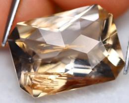 Golden Rutile 12.32Ct Natural Faceted Golden Needle Rutile Quartz B2709