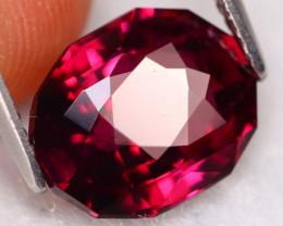 Rhodolite 4.35Ct VVS Master Cut Natural Purplish Red Rhodolite Garnet B2710