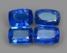 4.45 CTS EXCELLENT CORNFLOWER BLUE KYANITE CUSHION GEM!