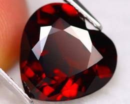 Almandine 6.03Ct VVS Heart Cut Natural Vivid Red Almandine Garnet B2723