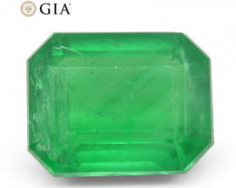9.4 ct Octagonal/Emerald Cut Emerald GIA Certified
