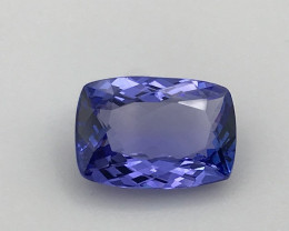 Tanzanite 5.84Ct Natural Flawless Violet Blue Tanzanite VJ015