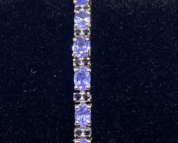(6) Stunning 9.46tcw. Natural Tanzanite Bracelet Untreated