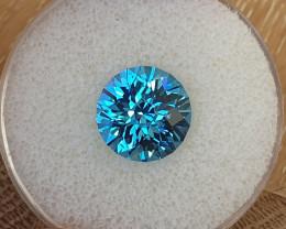 7,34ct Swiss blue Topaz - Master cut!