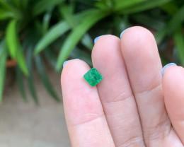 1.08 rectangular cut emerald usd 600