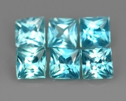 2.75 CTS~EXCEPTIONAL NATURAL RARE SQARE CUT BLUE~ZIRCON EXCELLENT!!
