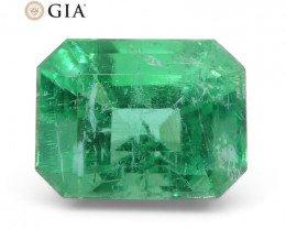 3.73 ct Octagonal/Emerald Cut Emerald GIA Certified F1/Minor
