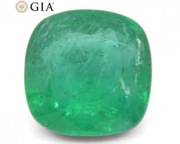 3.94 ct Cushion Emerald GIA Certified