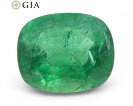 5.03 ct Cushion Emerald GIA Certified