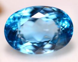 33.12Ct Natural Swiss Blue Topaz Oval Cut Lot LZ5920