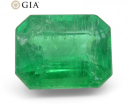 3.27 ct Octagonal/Emerald Cut Emerald GIA Certified