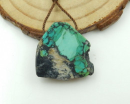 23cts Turquoise Pendant ,Natural Gemstone ,Turquoise Nugget Pendant G110