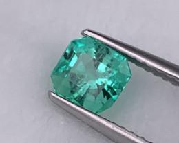 Colombian Emerald AAA+ Grade Natural Vivid Green Color 0.88 Cts