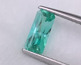 Colombian Emerald Natural Fancy Custom Cut Lustrous Vivid Green 0.76 Cts.