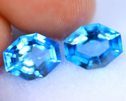 4.49cts Natural AAA Swiss Blue Colour Topaz Pair / RD1426