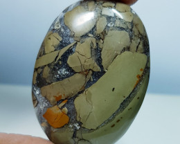 54.45 ct Natural Thunder Agate Oval Cabochon  Gemstone